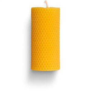 Chandelle bougie en cire d'abeille pure Cylindre alvéolé Merveilles d'abeilles