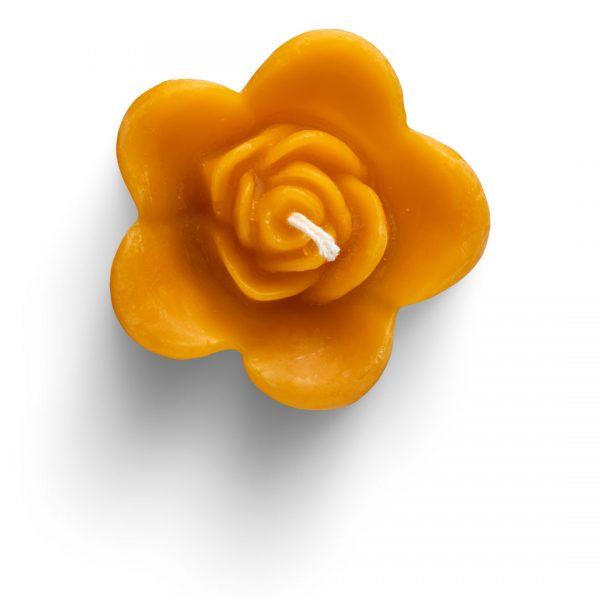 Chandelle bougie en cire d'abeille pure Rose Fleur flottante Merveilles d'abeilles