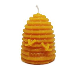 Chandelle bougie en cire d'abeille pure – Ruche moyenne avec abeilles – Merveilles d'abeilles